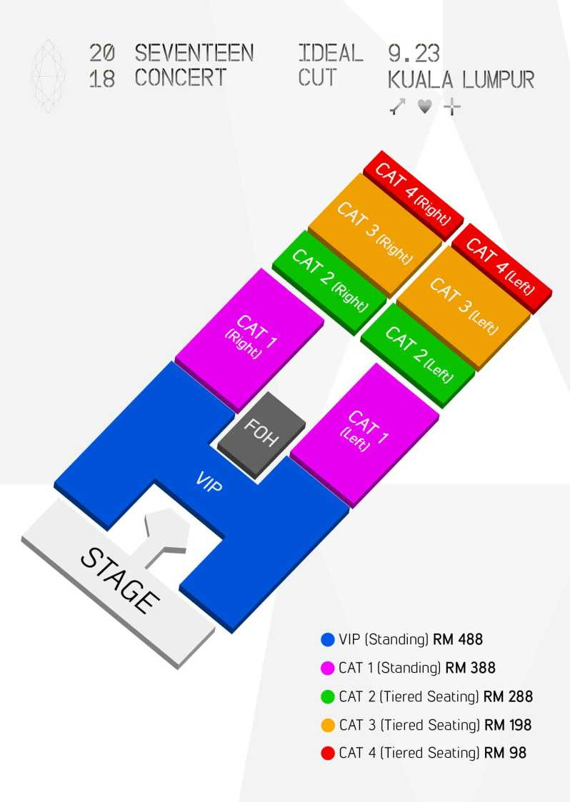 2018 SEVENTEEN CONCERT IDEAL CUT_Seat Map